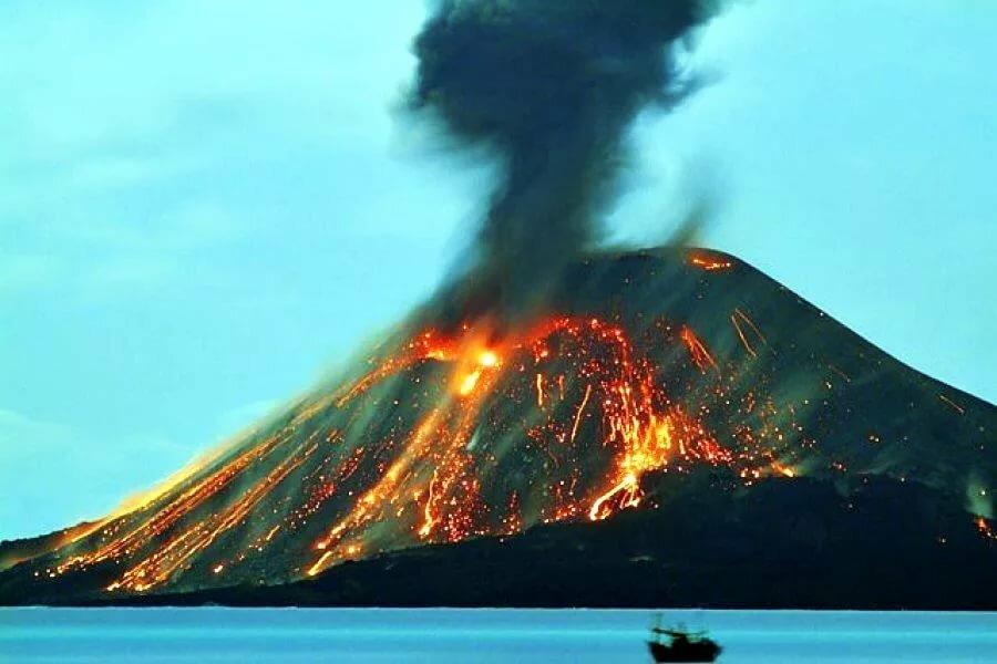 наряд картинки про остров вулкана берем простой карандаш