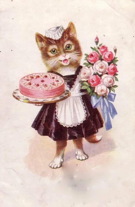 Советские открытки котята двухъярусная