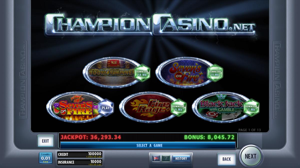 чемпион казино на мобильный скачать