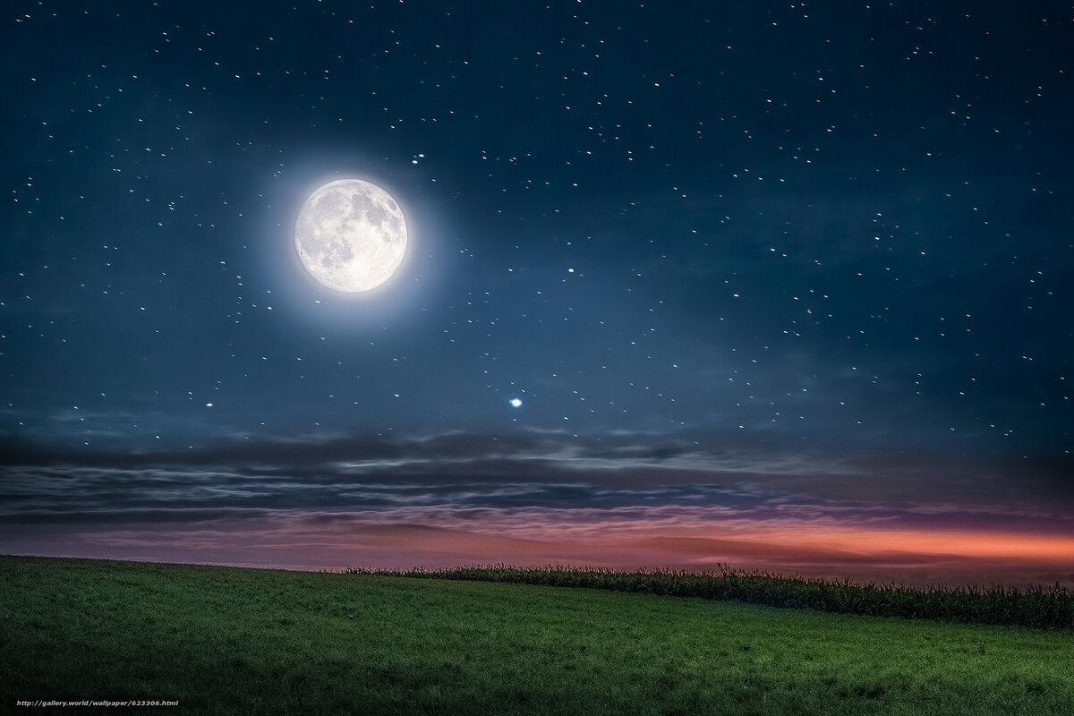 перевозили ночная луна в поле фотографии известно, математика