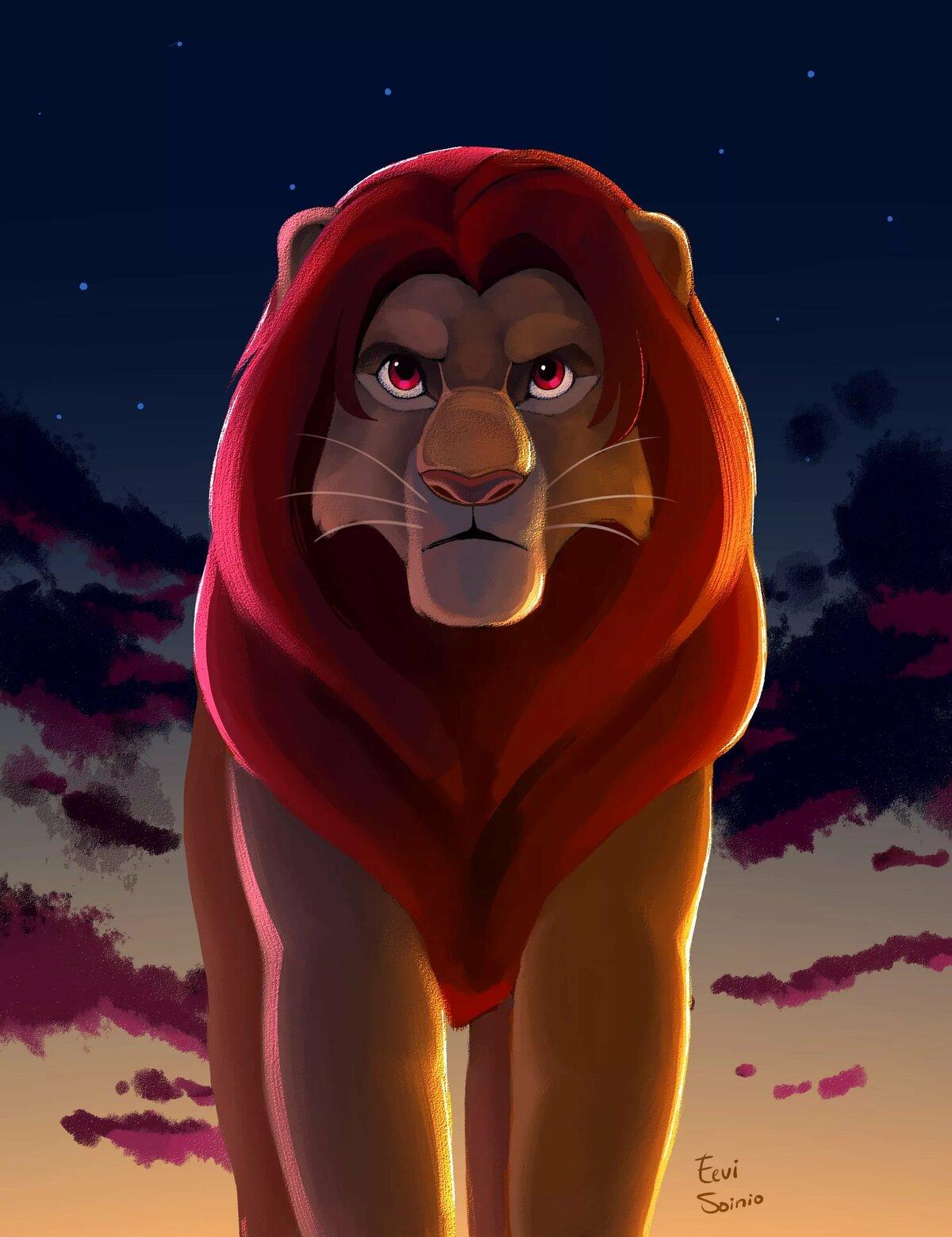 большие картинки король лев написал школьный литературный