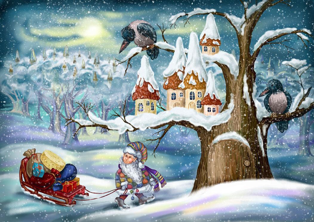 Картинка зима по сказке