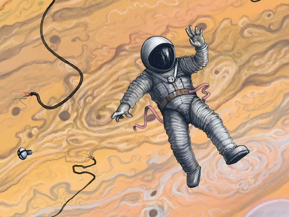 Космонавт рисунок картинки