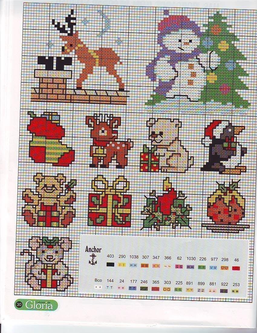 Схемы новогодних вышивок на открытки, картинки биатлона