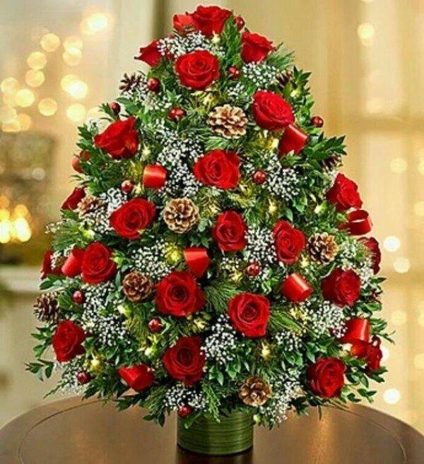 Маме моего, картинки с новогодними цветами