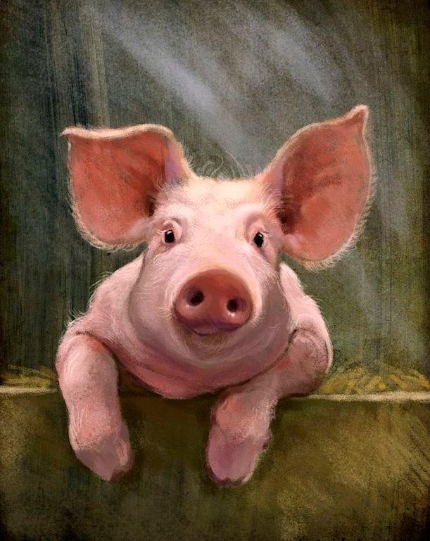 Прикольные рисунки свиней