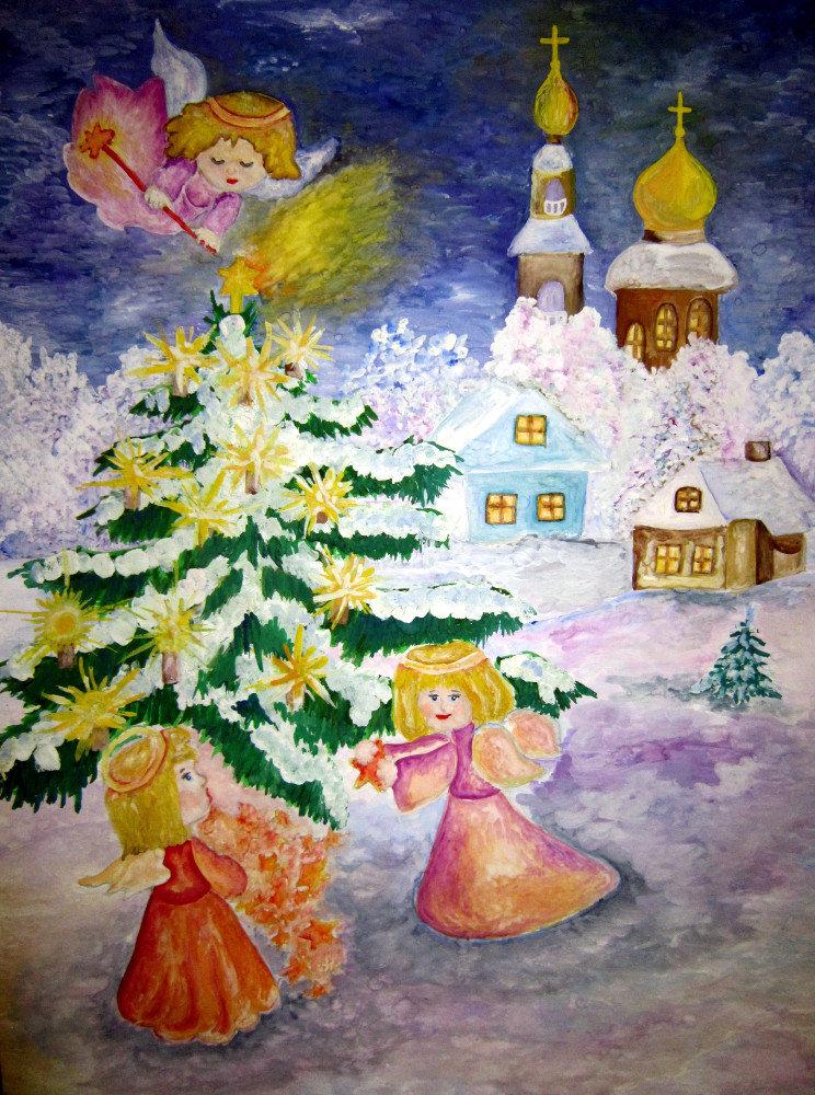 Рисунок к рождеству христову