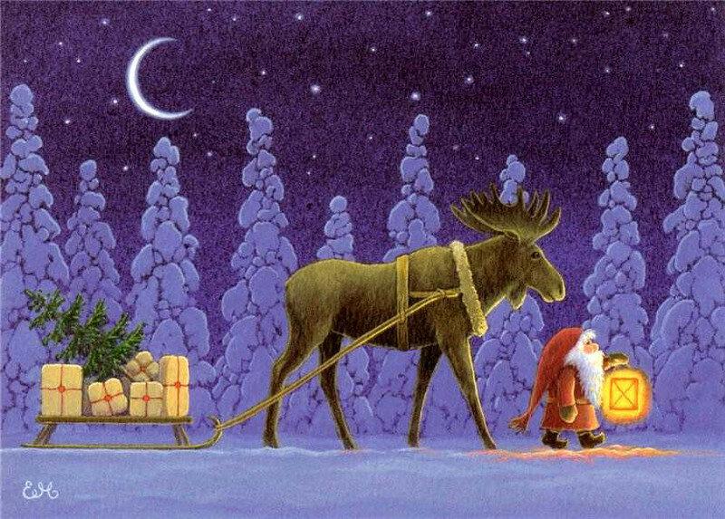 легендам лун новогодние открытки с лосями диванами
