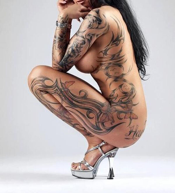 Extreme tribe tattoos on naked babes, mature sexy picture