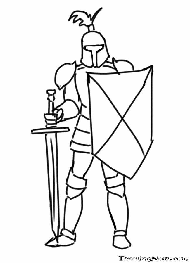 Картинки рыцаря в доспехах карандашом
