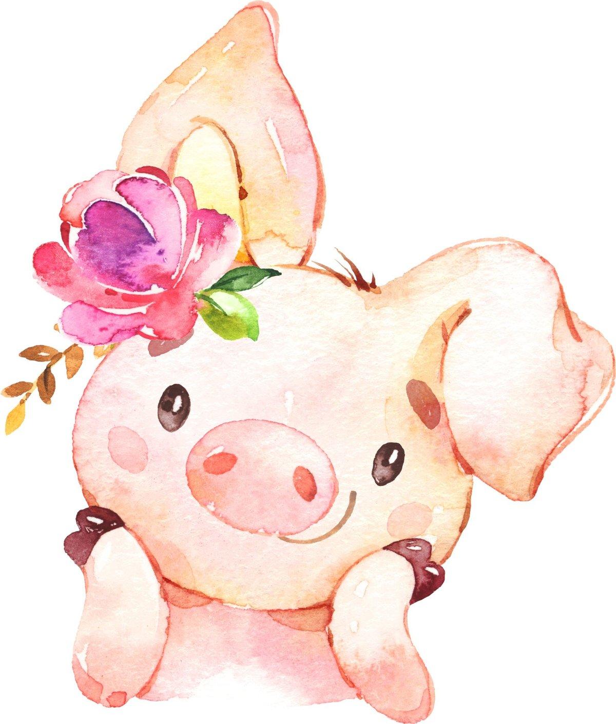 Картинки, картинки рисунки на новый год 2019 свиньи