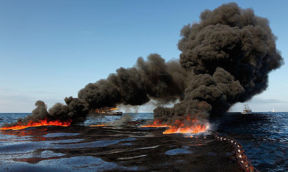 разлив нефти в море фото этого