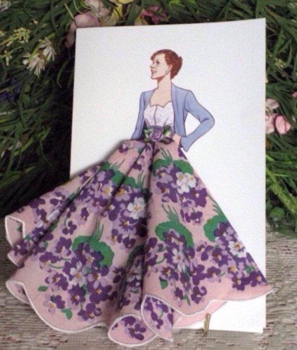 Как сделать открытку с платком, днем рождения