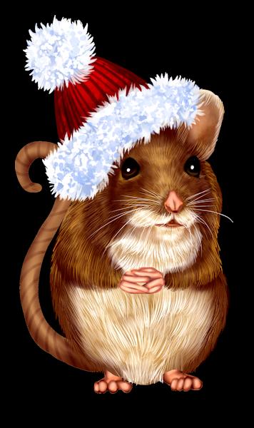 красивая новогодняя крыса рисунок