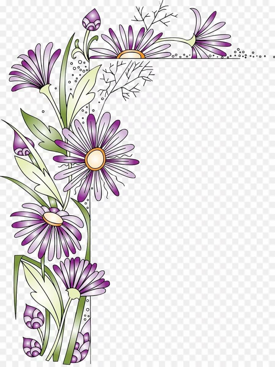 некоторые цветы как оформление открытки всего