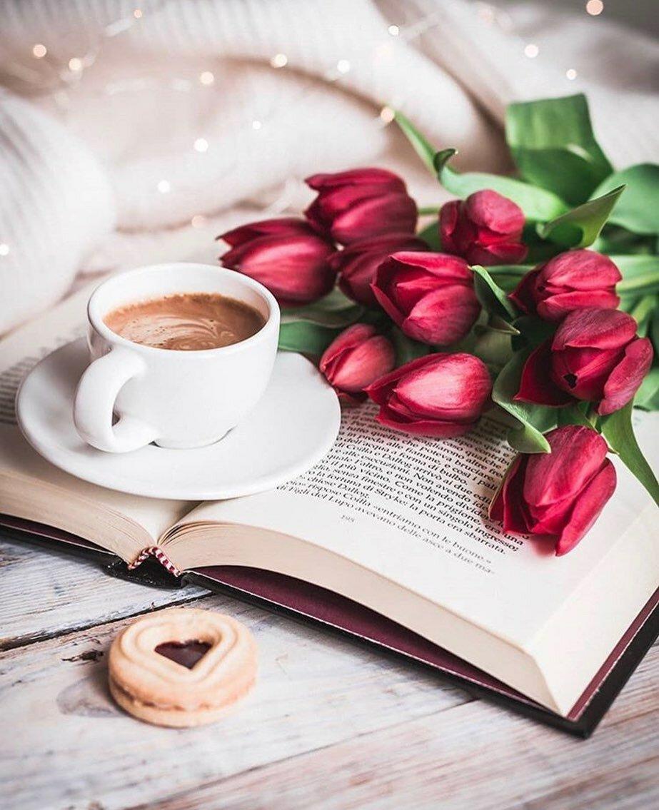 Картинки книг цветы чашки романтическое
