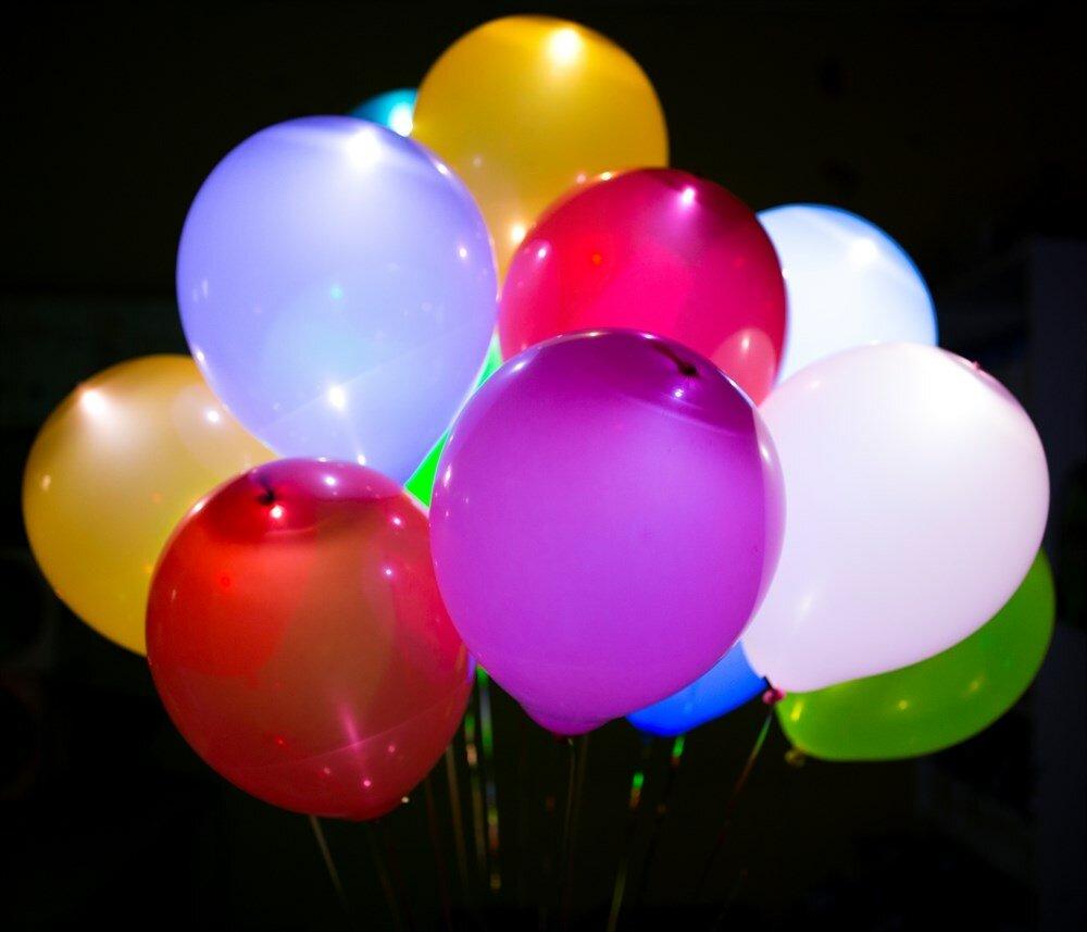 Школа, картинка светящиеся шары