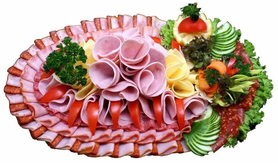 Колбасная нарезка на праздничный стол фото