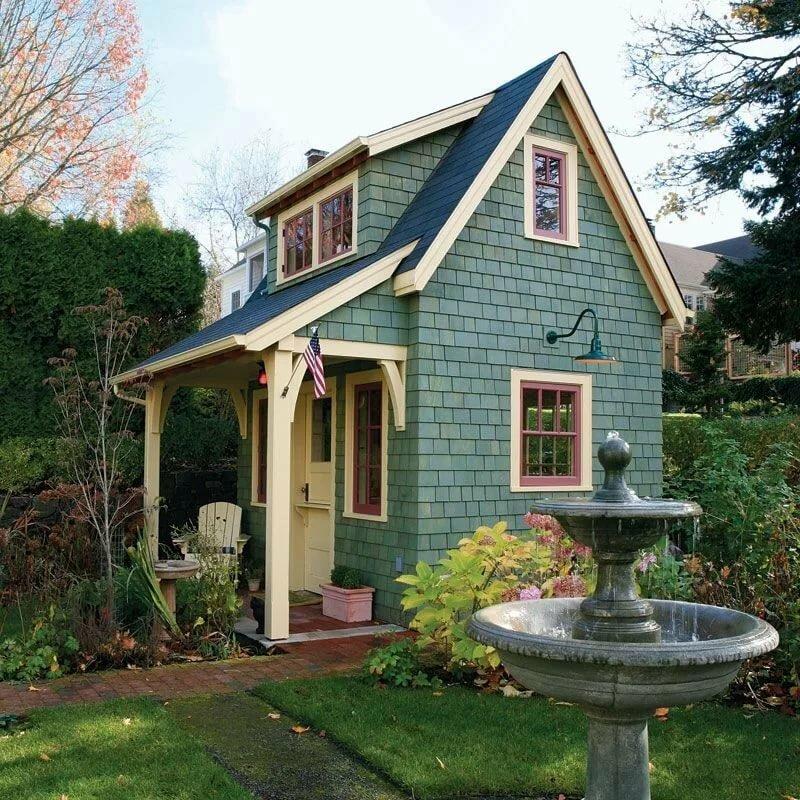 фотографии садовых домиков штанги