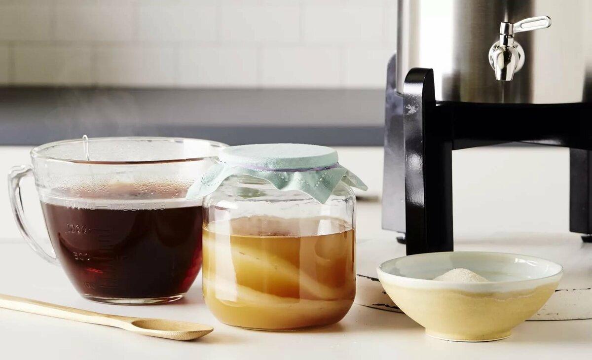Чайный гриб из черного чая