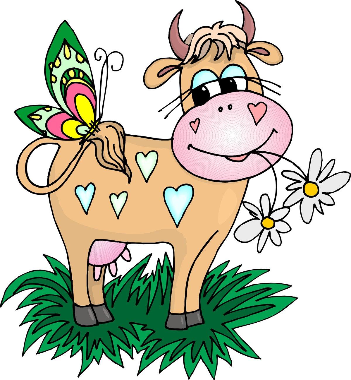 Прикольные, открытки коровы