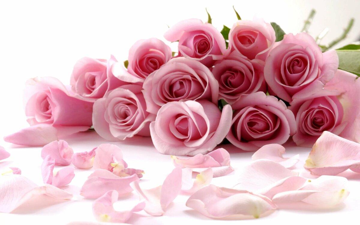 Открытка поздравляем с букетом роз
