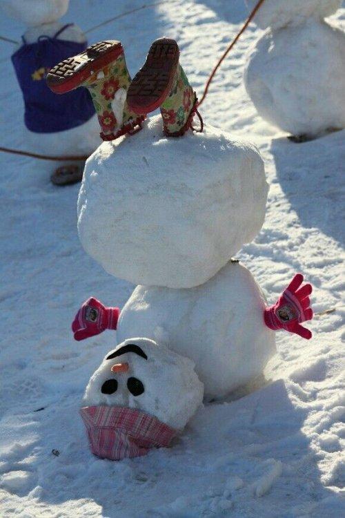 Боюсь тебя, картинка прикольная снеговик