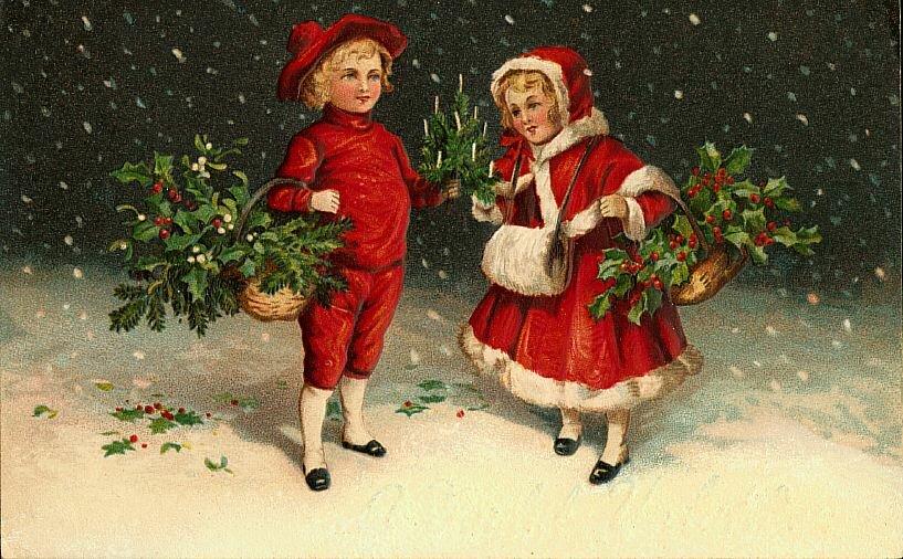 Бабы, новогодние открытки фото старинные