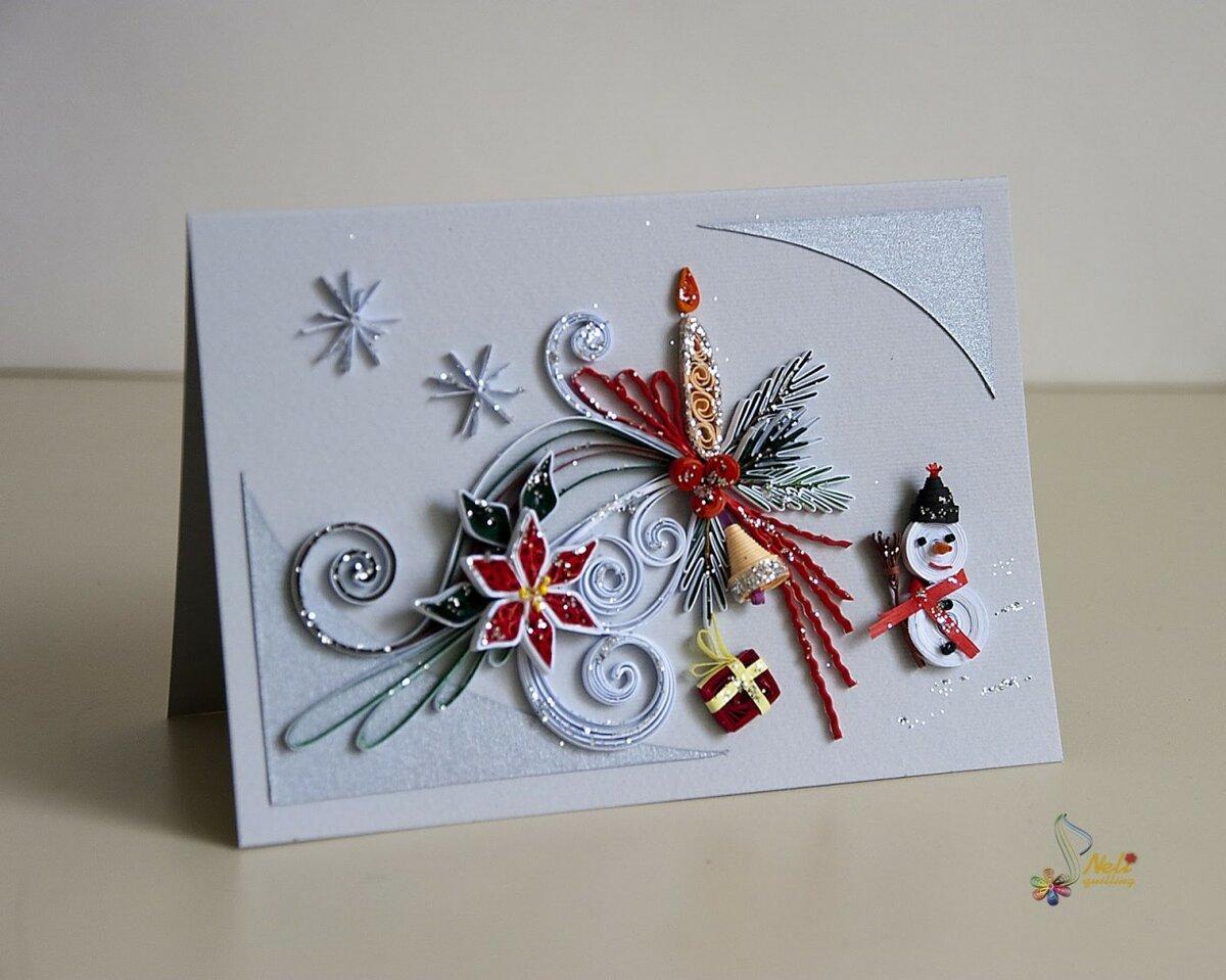 Новогодние открытки с декором