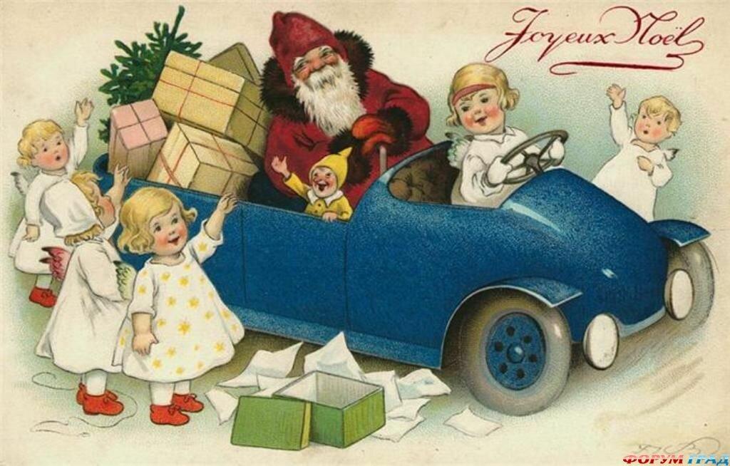 С новым годом на французском открытки, шедевр открытка