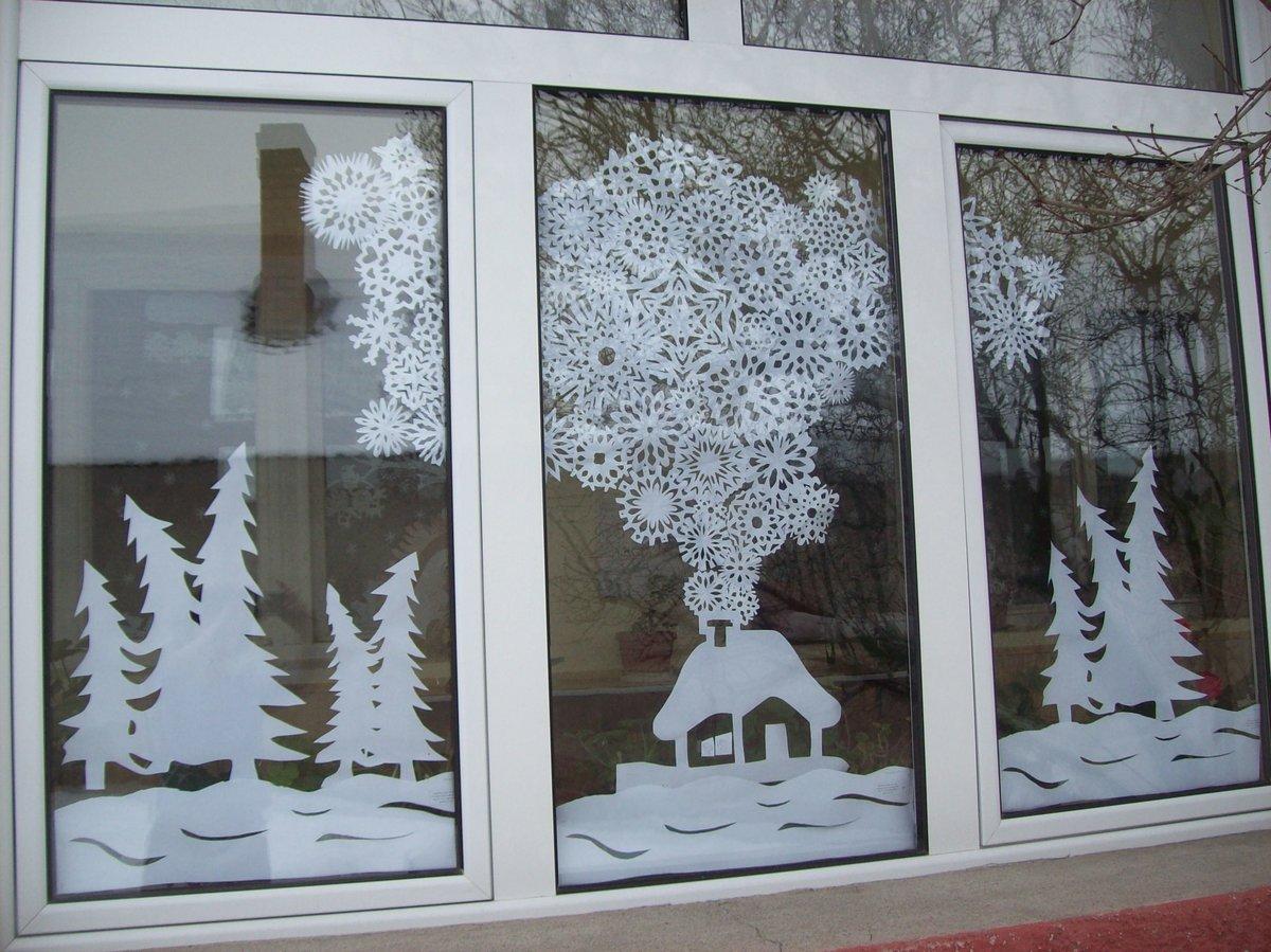 как делать украшения на окна картинки