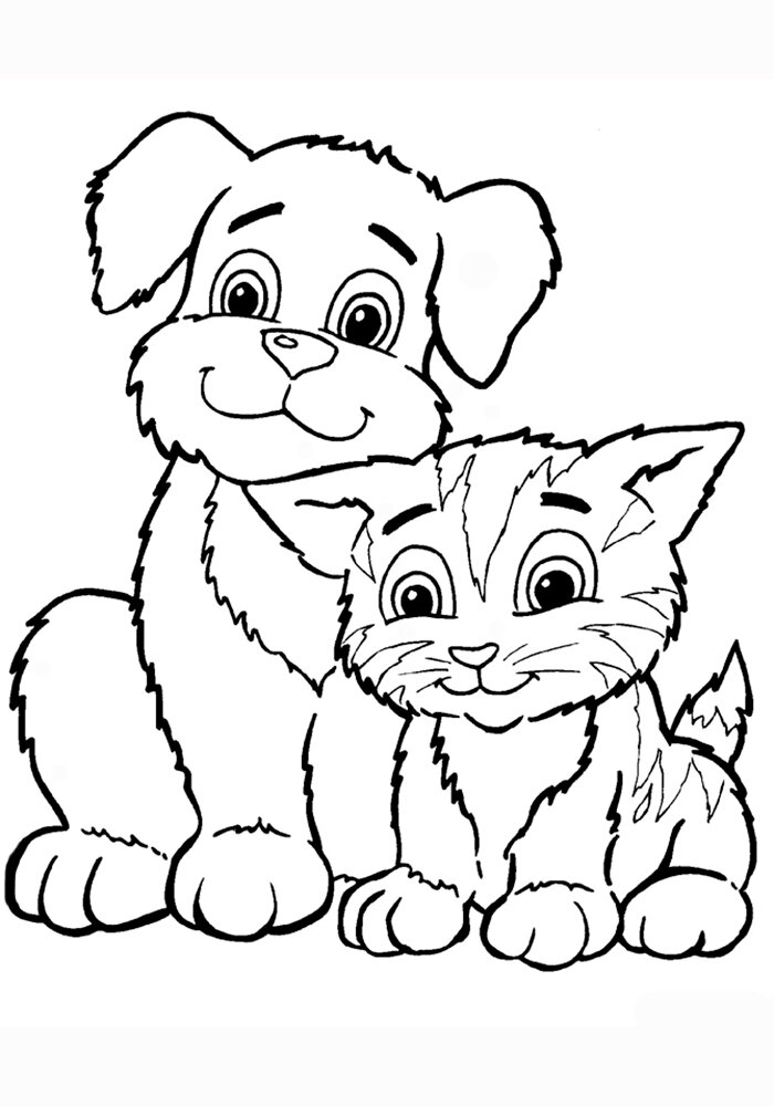 «Раскраска Котенок и щенок » — карточка пользователя 20681 ...