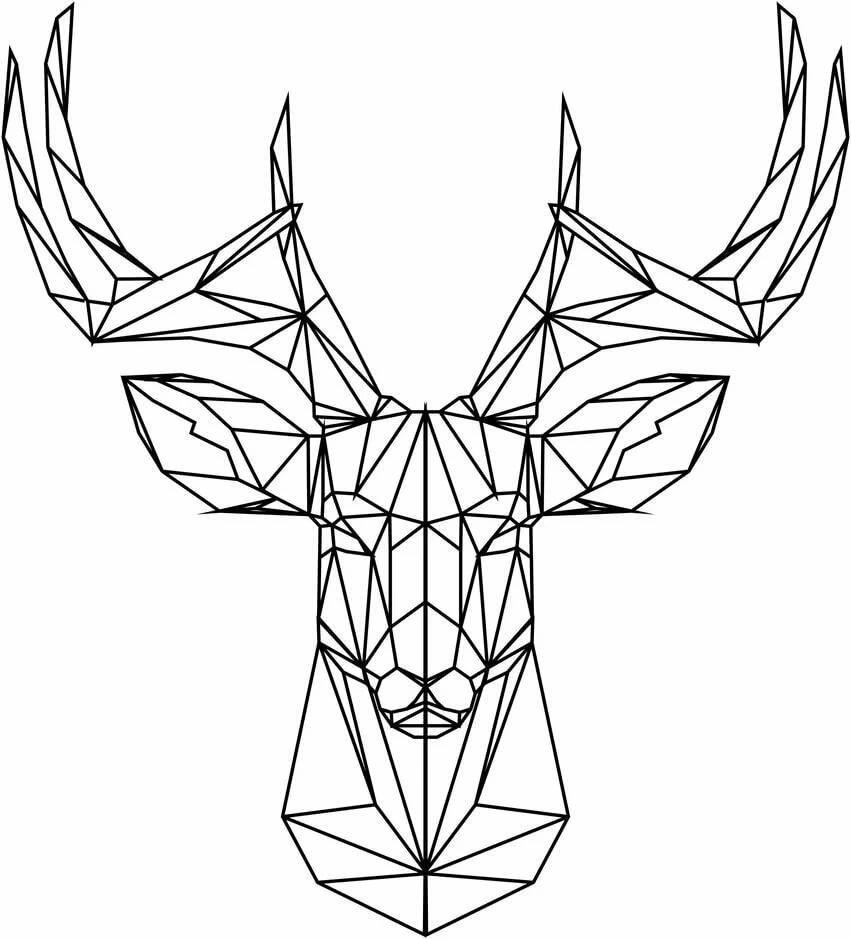 Геометрические рисунки смешные