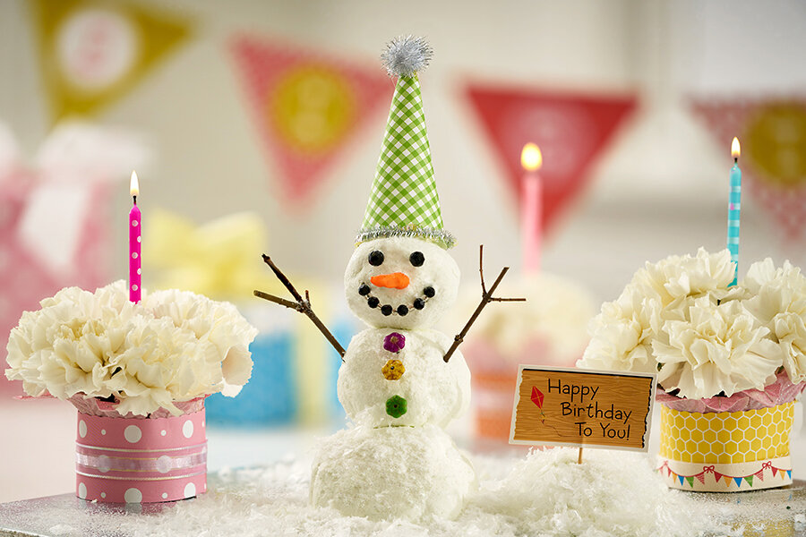 Снежная открытка с днем рождения, картинки