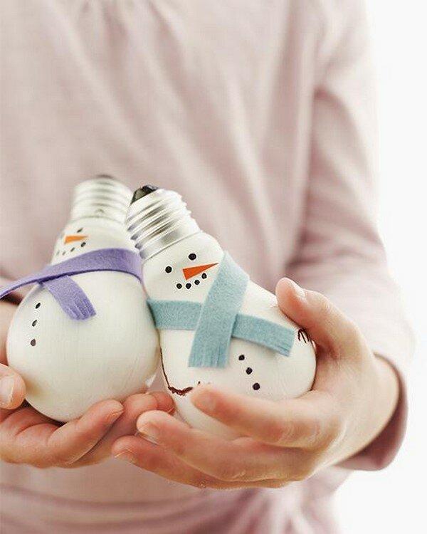 чашечку кофе новогодние игрушки из лампочек своими руками фото отпечаток отличие