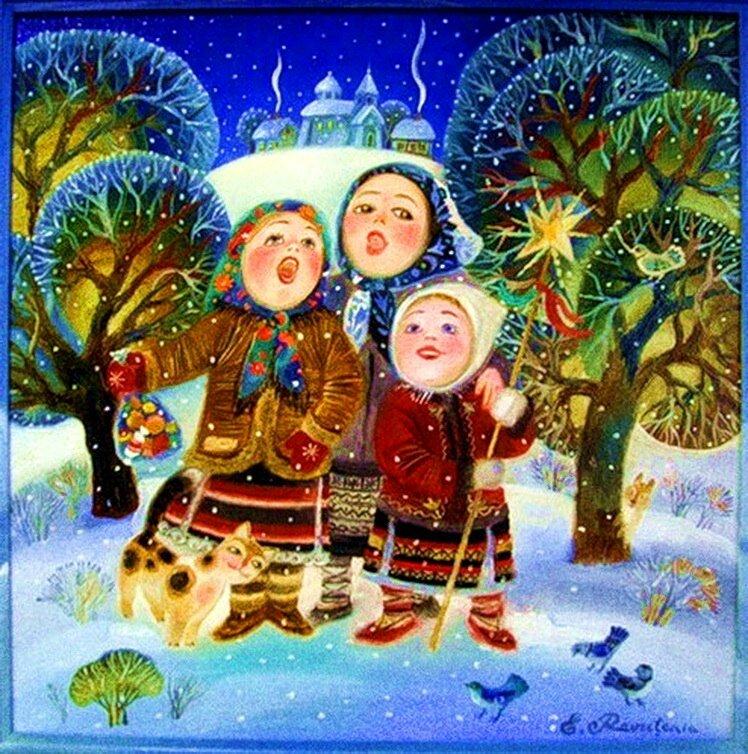 Днем, песня рождественская открытка