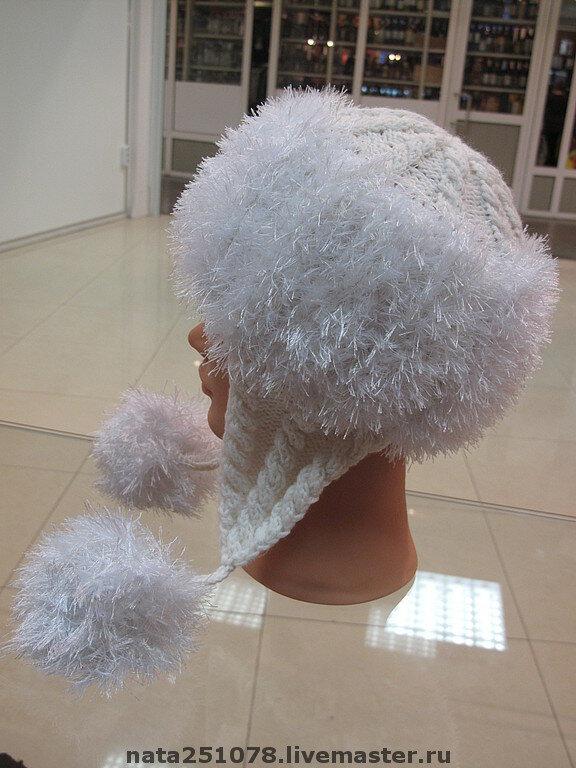 шапки вязанные из травки с описанием - 1