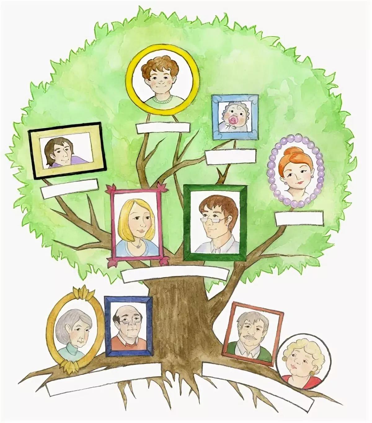 Родословная семьи в картинках