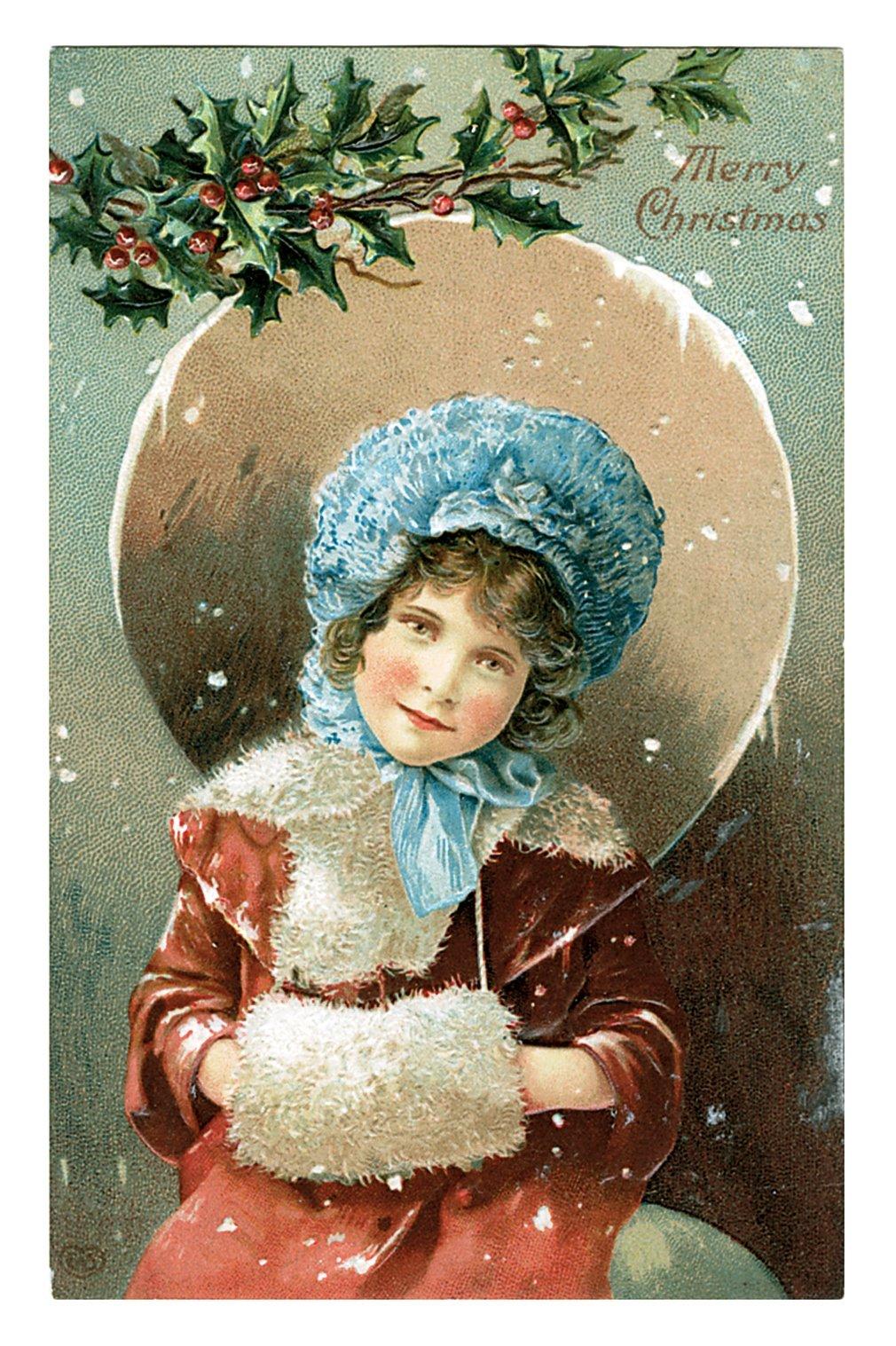 Ретро открытки с новым годом и рождеством фото