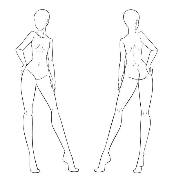 Картинки манекенов для рисования одежды