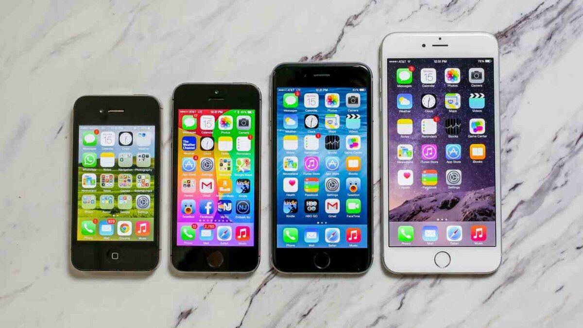 фото всех видов айфонов