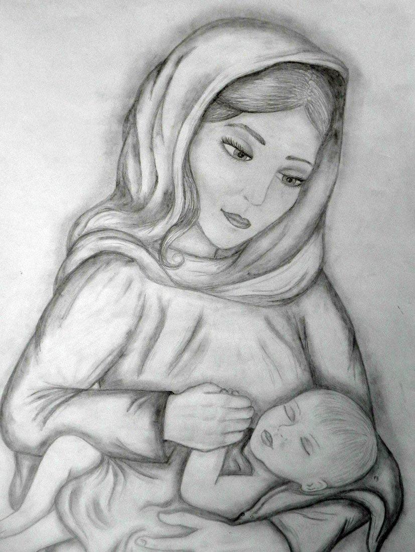 Мама с ребенком картинки для срисовки, картинки для пословицы