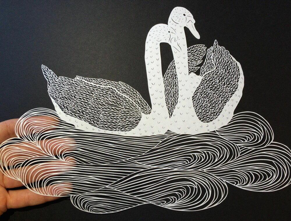Рисунки из бумажек