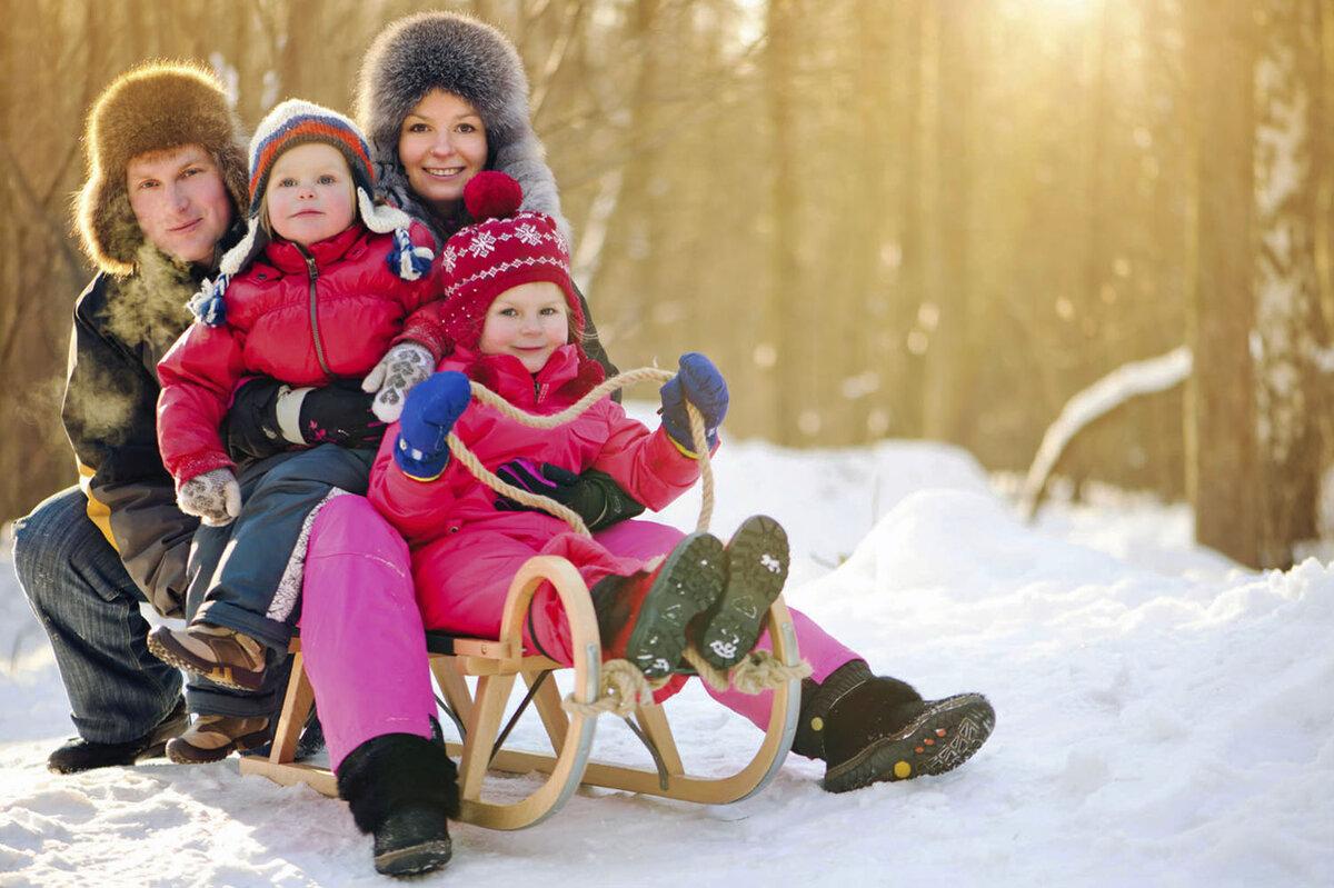 Картинка родительство зимой
