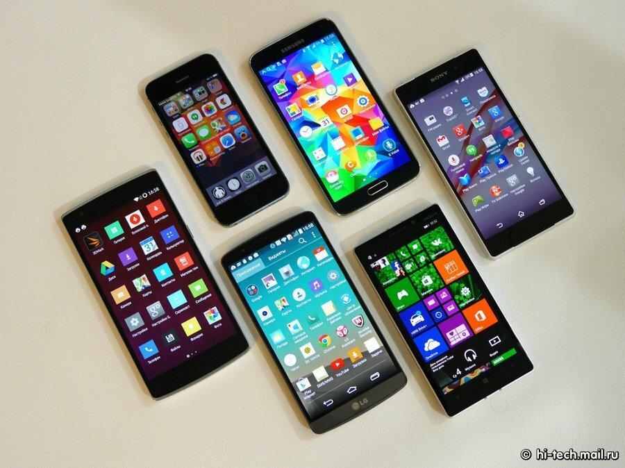 Картинка современные телефоны