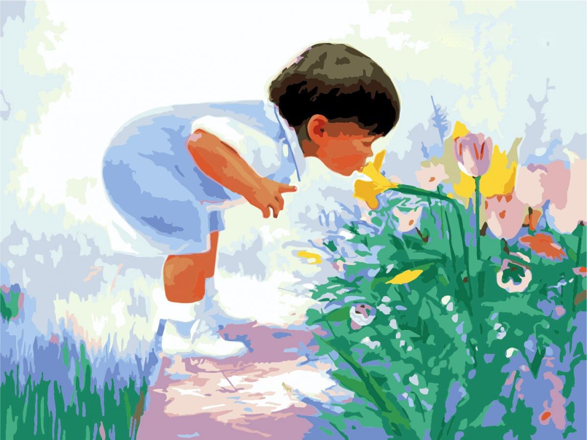 Года, краски мальчик с открытки