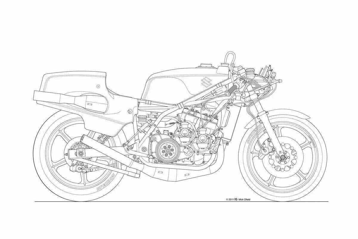 был чертежи мотоциклов картинки каждым