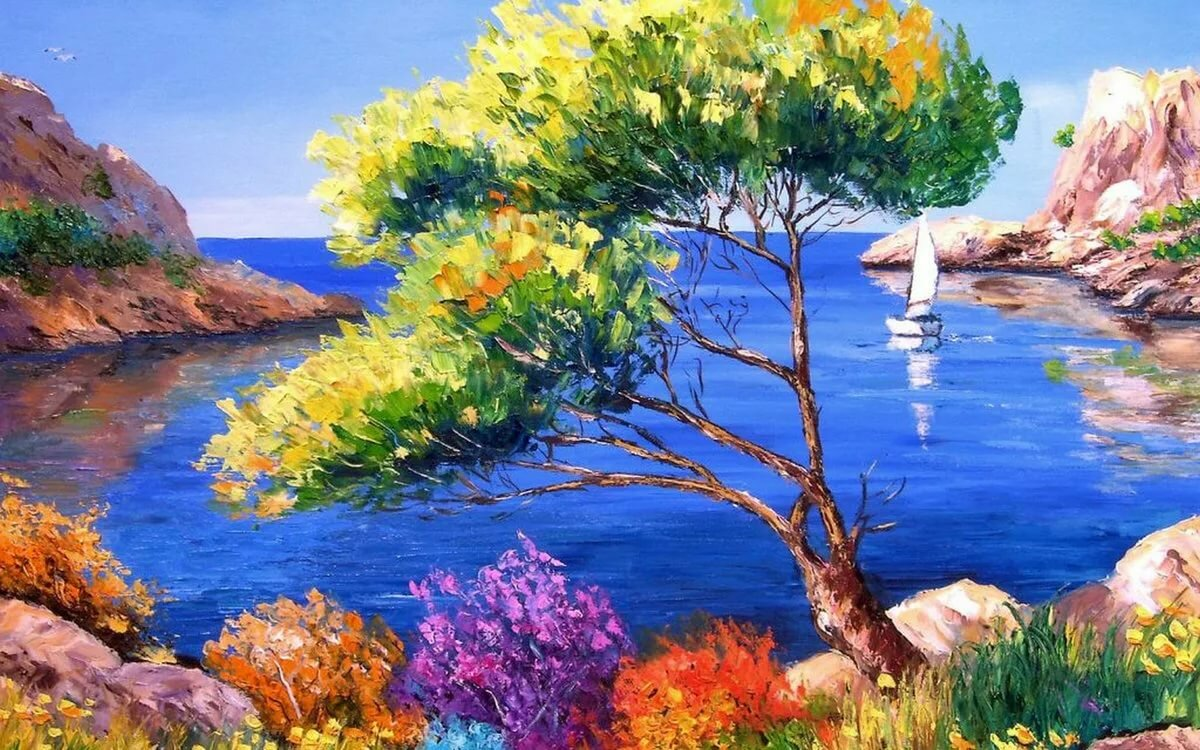 Красивые картинки природы пейзажи нарисовать