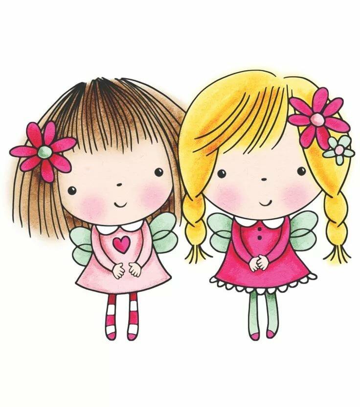 Картинки две сестрички прикольные, про прикольных друзей