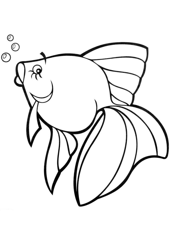 Как себя, картинки а4 для печати рыбка